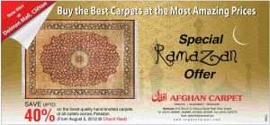 Afghan Carpet Special Ramadan Offer