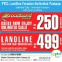 PTCL Landline Freedom Unlimited Package