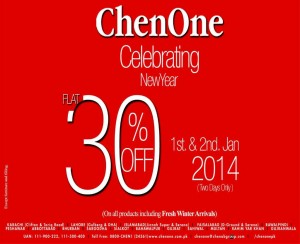 ChenOne Sale 2014 January on New Year