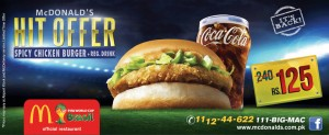 McDonald's Hit Offer 2014 Pakistan
