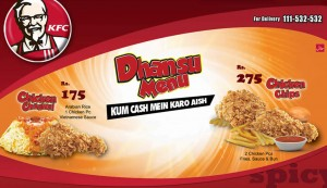 KFC Dhansu Menu Deal 2015 Pakistan