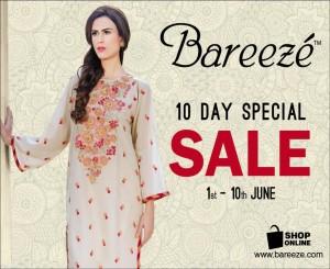 Bareeze Summer Sale 2015
