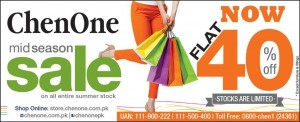 ChenOne Mid Season Sale 2015 on Entire Summer Collection