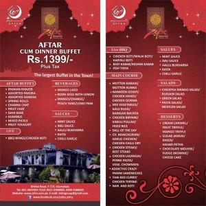 Zefra Restaurante Islamabad Iftar Deal 2015