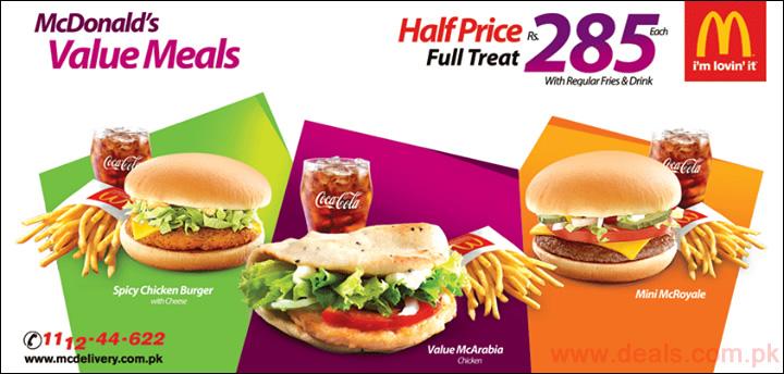 Mcdonalds Meal Deal Mcdonald's Value Meals 2015